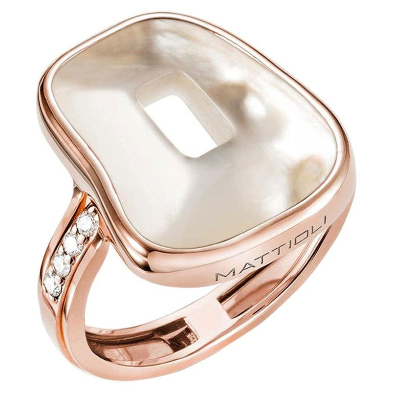 Mattioli Puzzle Collection 18 Karat Rose Gold Ring with Diamonds and 3 Puzzles For Sale