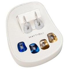 Mattioli Puzzle Collection 18 Karat White Gold Pavé of Diamonds Earrings