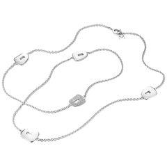 Mattioli Puzzle Collection 18 Karat White Gold, White Diamonds Chanel Necklace