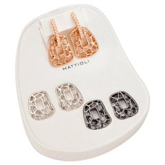 Mattioli Puzzle Collection 18k Gold Earrings with Diamonds Silver and Bronze