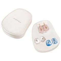 Mattioli Puzzle Safari Medium 18K Rose Gold Earrings Pink Enamel & 2 Pendants