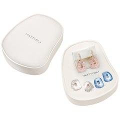 Mattioli Puzzle Safari Small 18K Rose Gold Earrings Pink Enamel and 2 Pendants