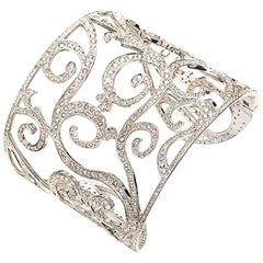 Mattioli Siriana Cuff in White Gold and Ice Diamonds