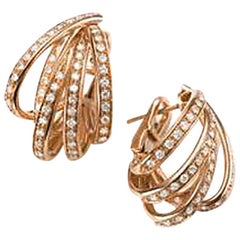 Mattioli Tibet Earrings in Rose Gold and White Diamonds