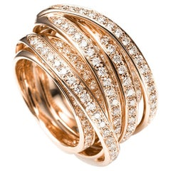 Mattioli Tibet Ring in Rose Gold and White Diamonds