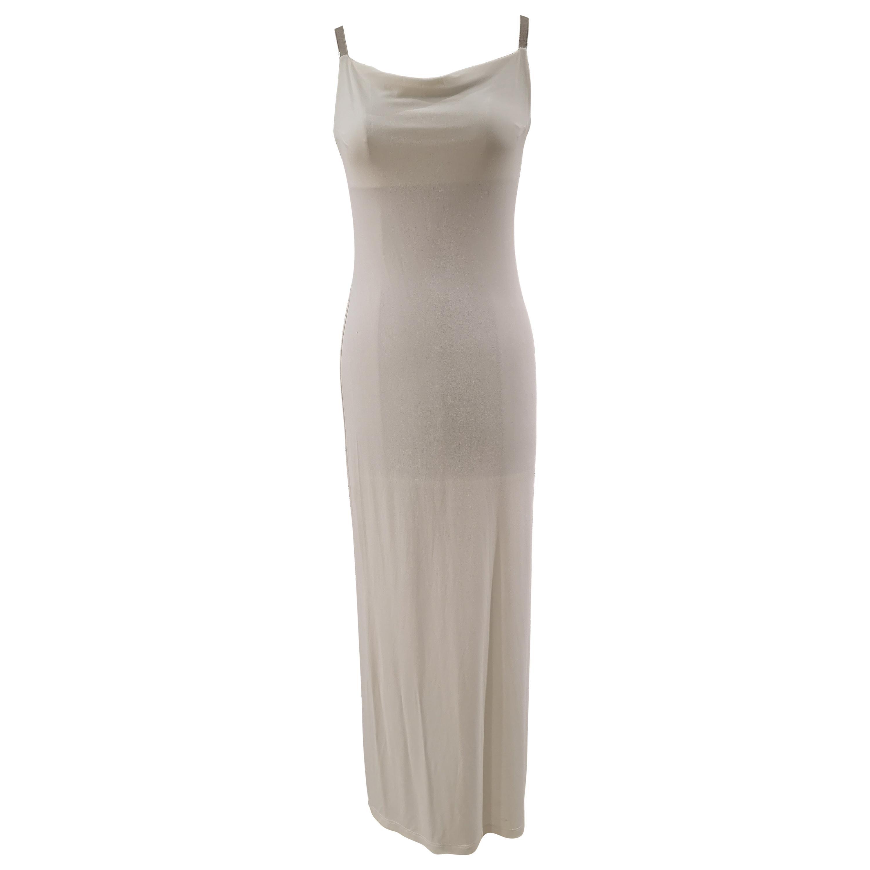 Mattiolo Jeans long white dress