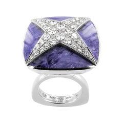 Mauboussin - 18 Carat. White Gold - Ring - 1.00 ct Diamond - Jade