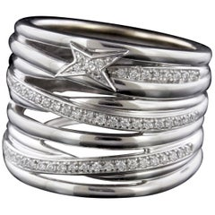 Mauboussin 18 Karat White Gold Kiff and Kiss Diamond Ring