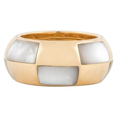 Mauboussin 18 Karat Yellow Gold Band with Mother of Pearl Inlays