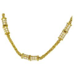 Mauboussin 18 Karat Yellow Gold Diamond Necklace