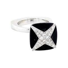 Mauboussin Diamond and Wood Ring