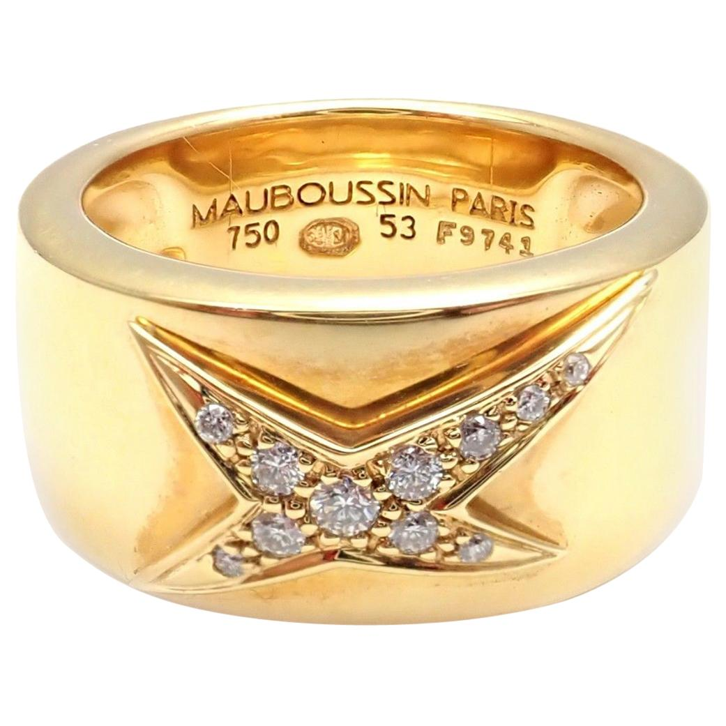 f0d8b3408 Mauboussin Band Ring with Inlaid Mother-of-Pearl For Sale at 1stdibs