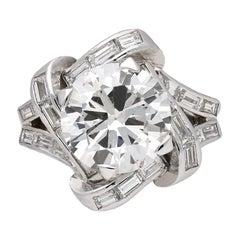Mauboussin Diamond Cluster Ring French, circa 1940