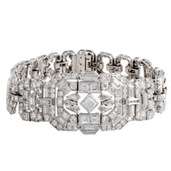 Mauboussin Full Diamond Pave Platinum Bracelet