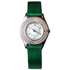 Mauboussin Ladies Quartz Wristwatch with 18 Karat Gold Case and Diamond Bezel