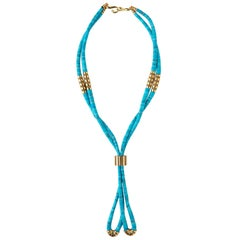 Mauboussin 'Nadja' Turquoise and Gold Necklace