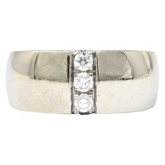 Mauboussin Paris 0.35 Carat Diamond 18 Karat White Gold Band Ring