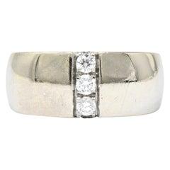 Mauboussin Paris 0.35 Carat Diamond 18 Karat White Gold Band Ring