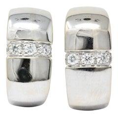 Mauboussin Paris 0.40 Carat Diamond 18 Karat White Gold Earrings