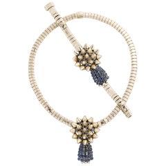 Mauboussin Paris Diamond and Sapphire Necklace and Bracelet Set
