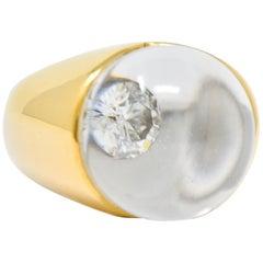 Mauboussin Paris Diamond Rock Crystal 18 Karat Gold Orb Ring