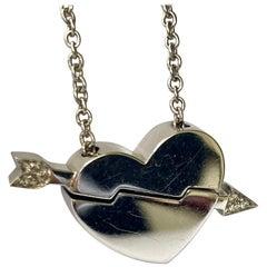 Mauboussin Paris, White Gold Hart Pendant with Chain