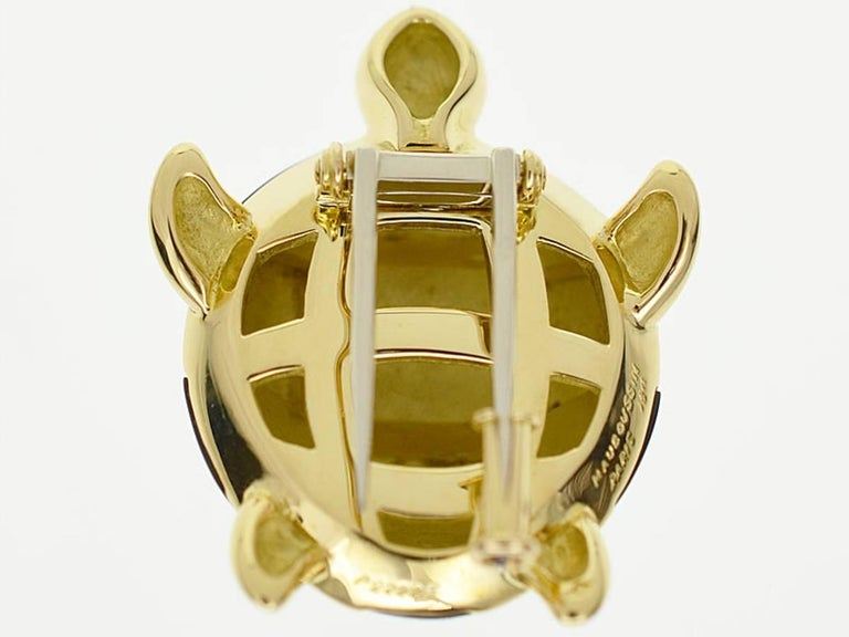 Brand: MAUBOUSSIN  Name: Turtle brooch Material: Black shell 750 K18 YG Yellow Gold Comes with: Our original box Full length(inch): H31mm×W25mm/ 1.22