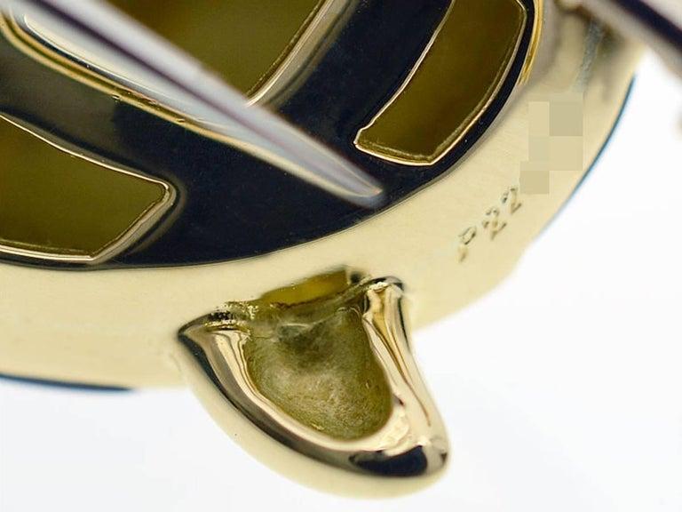 Mauboussin 18 Karat Yellow Gold Turtle Brooch Black Shell For Sale 2