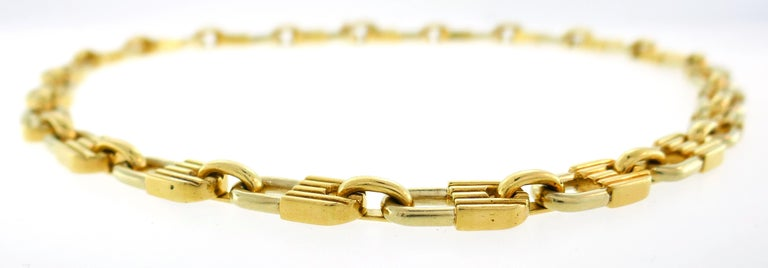 Mauboussin Yellow Gold Link Chain Necklace, 1970s French 1