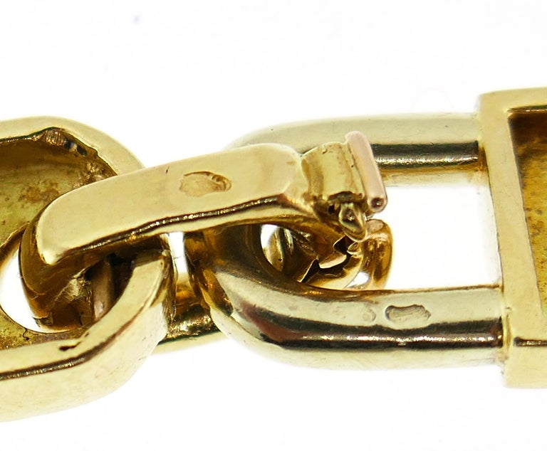 Mauboussin Yellow Gold Link Chain Necklace, 1970s French 4