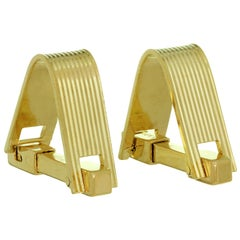 Mauboussin Yellow Gold Stirrup Cufflinks
