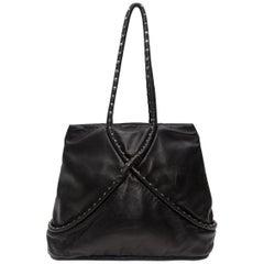 Maud Frizon Black Leather Handbag