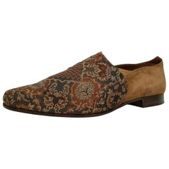 Maud Frizon Silk Pointed slippers with Florestal Theme
