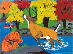 Deer in Stream