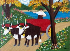 Oxen in Spring