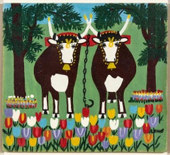 Oxen in Spring Three Legs
