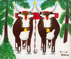 Pair of Oxen With Tree in Foreground