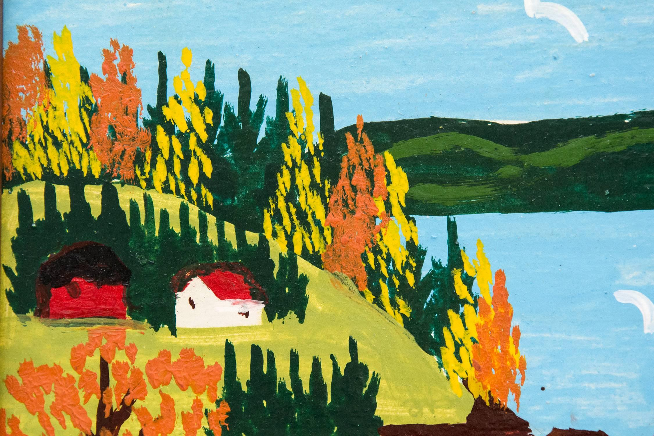 Maud Lewis - Sandy Cove with Fall Colors, Painting at 1stdibs