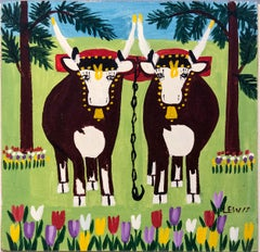 Two Oxen in Spring