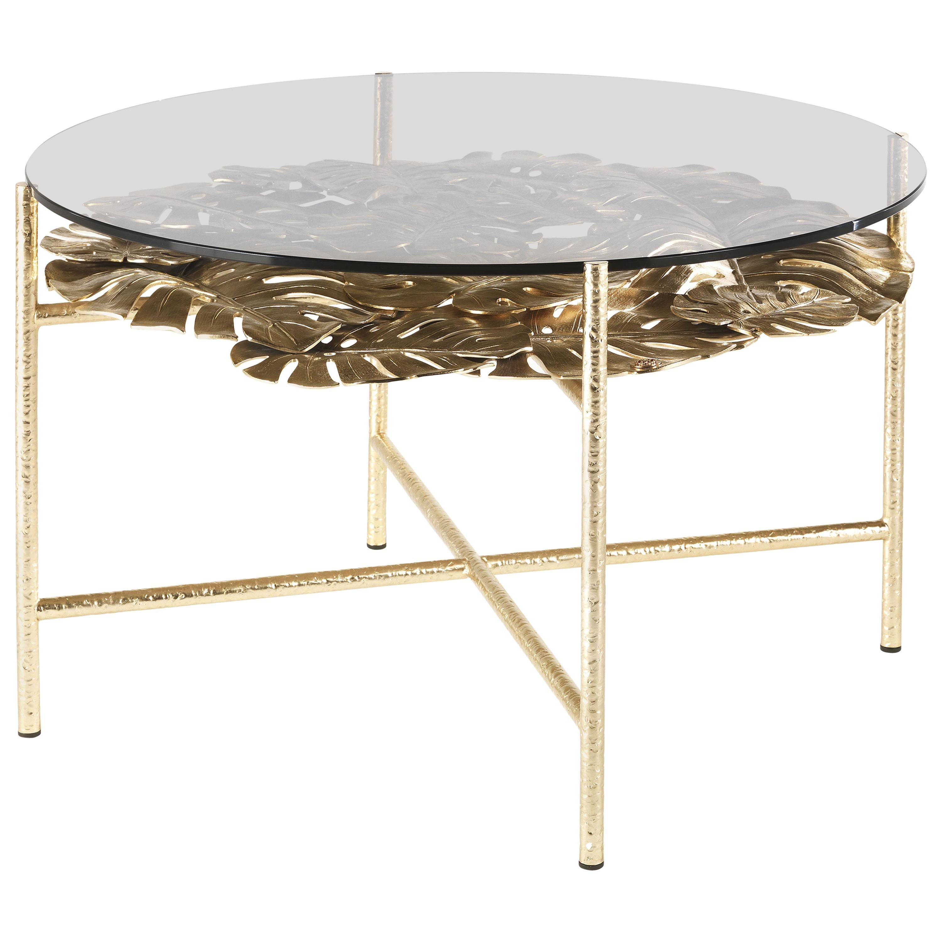 Maui Side Table in Brass by Roberto Cavalli Home Interiors