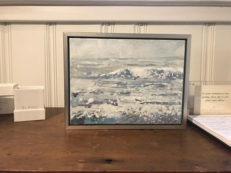 Salt Air by Maureen Naughton, Framed Encaustic on Board Seascape Painting For Sale 1