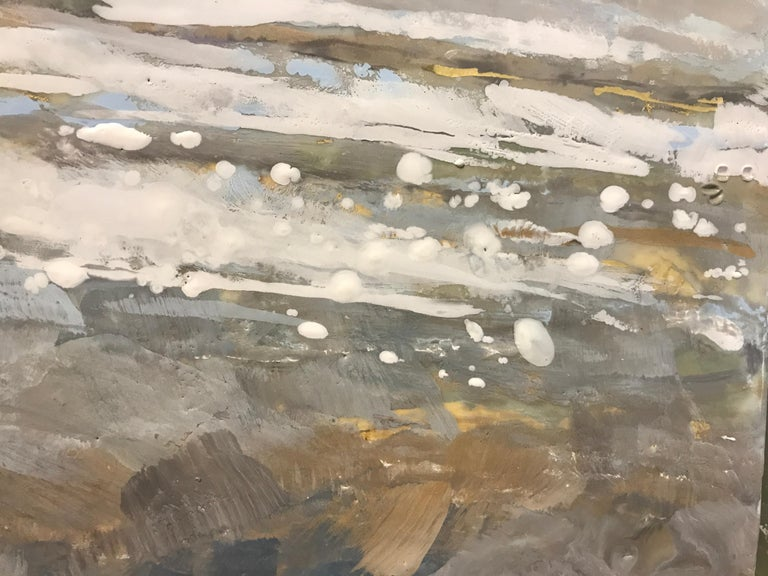 Salt Tipped by Maureen Naughton, Framed Encaustic on Board Seascape Painting For Sale 2