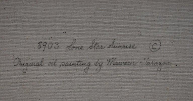 Maureen Tarazon  Bluebonnet (1934-) San Antonio Artist Image Size: 30 x 24 Frame Size: 39 x 33 Medium: Oil