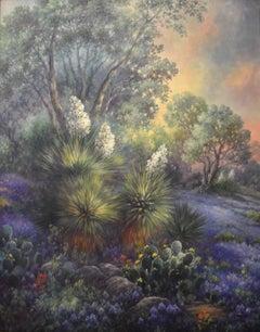 """Lone Star Sunrise""  Bluebonnet Painting"