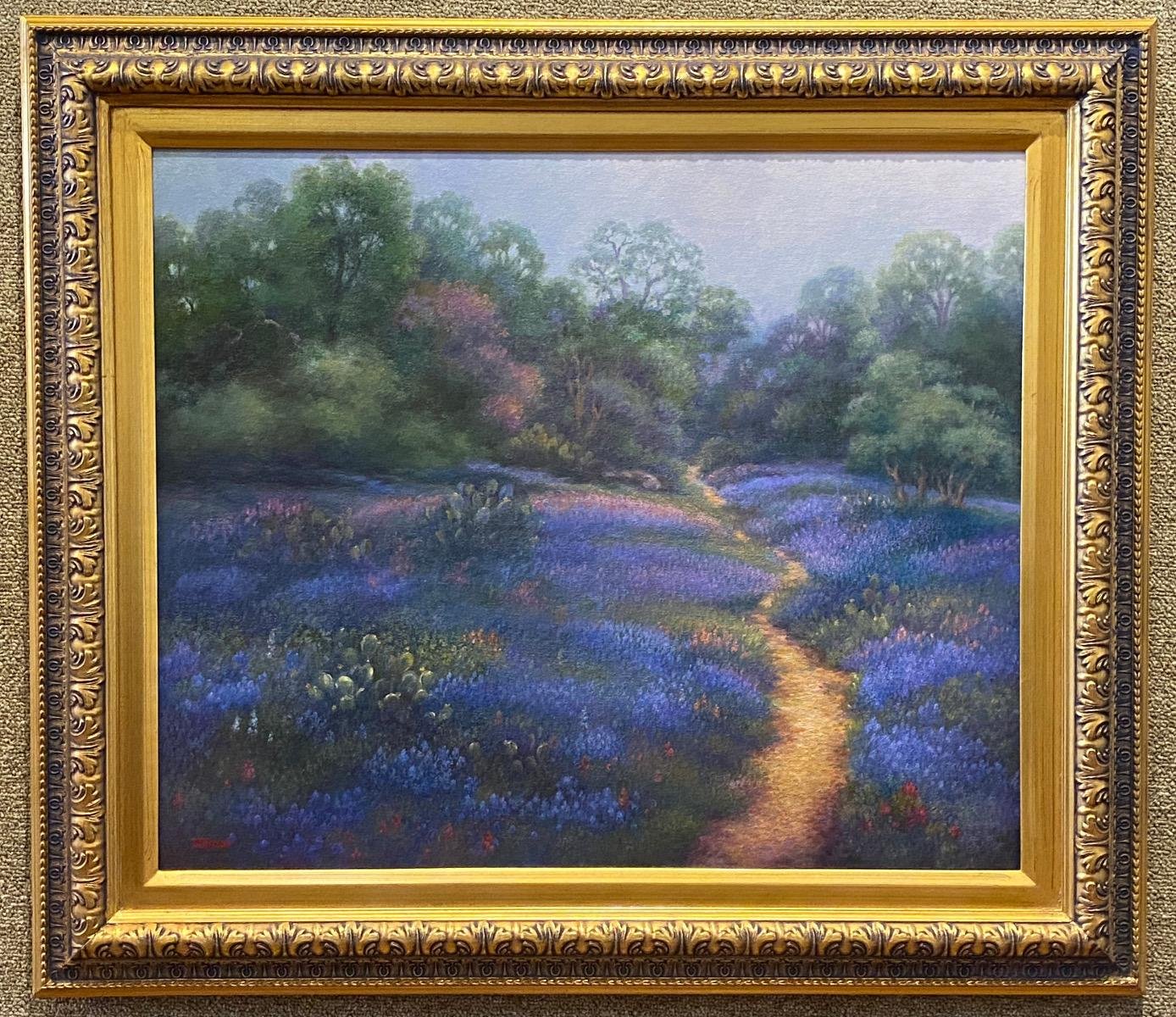 """""""UNDER A MORNING SKY""""  Bluebonnet Painting TEXAS HILL COUNTRY"""
