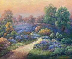 """UNDER AN EVENING SKY""  Bluebonnet Painting TEXAS HILL COUNTRY"