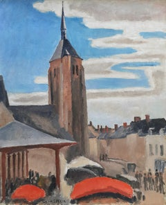 Market day in a country town on the Loire