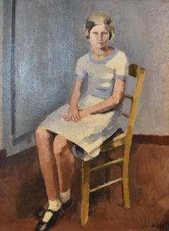 Maurice Asselin (1882-1947) Jeune fille assise, oil on canvas