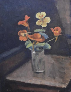 Maurice Asselin (1882-1947) Nasturniums in a vase, Signed oil on canvas