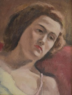Maurice Asselin (1882-1947) Portrait of  a woman resting, oil on canvas